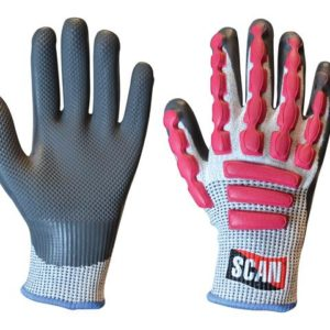 Anti-Impact Latex Cut 5 Gloves - Large (Size 9)