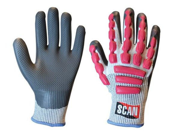 Anti-Impact Latex Cut 5 Gloves - Large (Size 9)