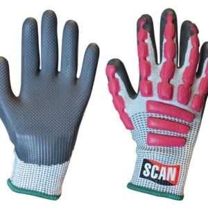 Anti-Impact Latex Cut 5 Gloves - Medium (Size 8)