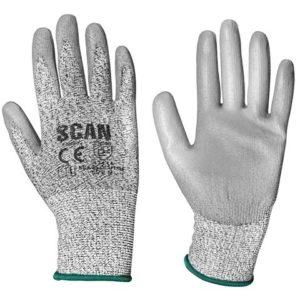 Grey PU Coated Cut 3 Gloves - Medium (Size 8)