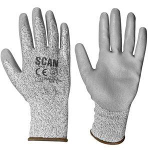 Grey PU Coated Cut 3 Gloves - Extra Large (Size 10)