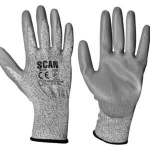 Grey PU Coated Cut 3 Gloves - Extra Extra Large (Size 11)