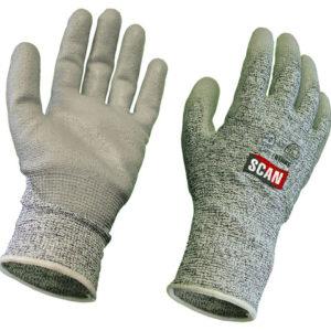Grey PU Coated Cut 5 Gloves - Large (Size 9)
