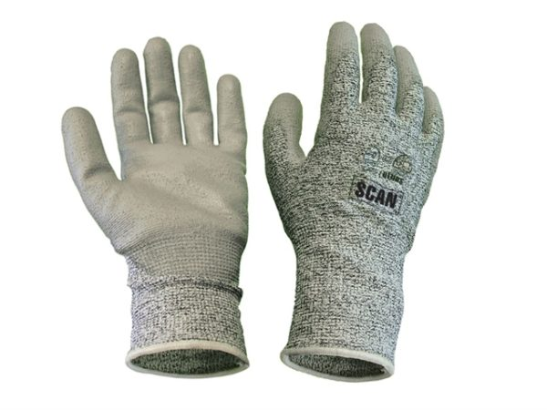 Grey PU Coated Cut 5 Gloves - Extra Large (Size 10)