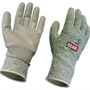 Grey PU Coated Cut 5 Gloves - Medium (Size 8)
