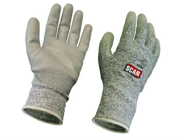 Grey PU Coated Cut 5 Gloves - Extra Extra Large (Size 11)
