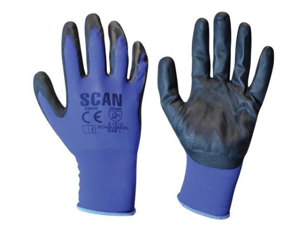 Max. Dexterity Nitrile Gloves - Large (Size 9)