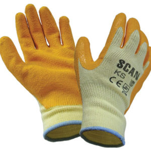 Knitshell Latex Palm Gloves - Large (Size 9)