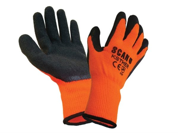 Thermal Latex Coated Gloves - Medium (Size 8)