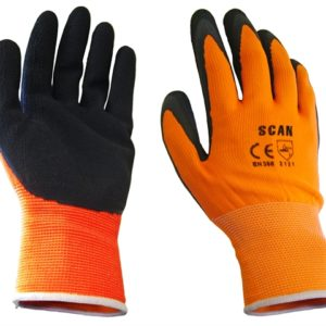Hi-Vis Orange Foam Latex Coated Gloves - Extra Extra Large (Size 11)