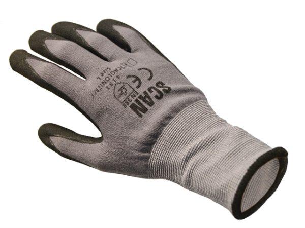 Breathable Microfoam Nitrile Gloves - Large (Size 9)