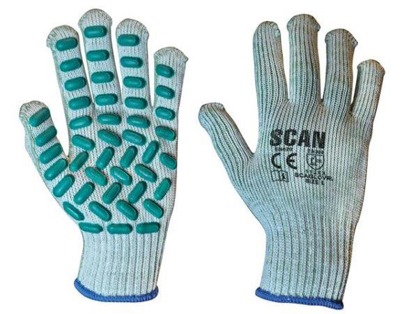 Vibration Resistant Latex Foam Gloves - Large (Size 9)