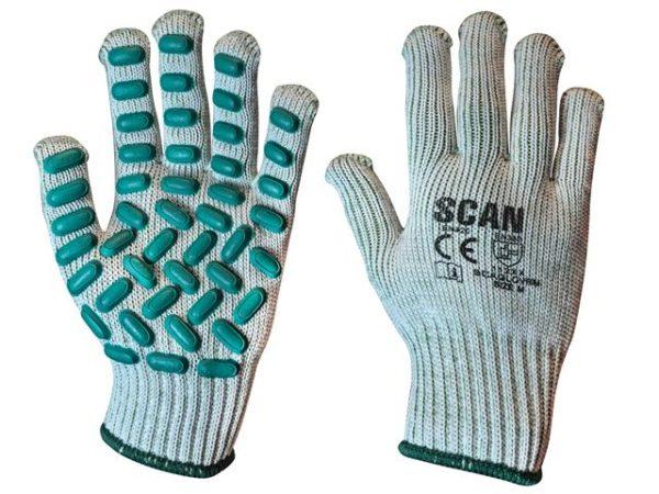 Vibration Resistant Latex Foam Gloves - Medium (Size 8)