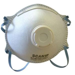 Moulded Disposable Mask Valved FFP2 Protection (Pack 3)