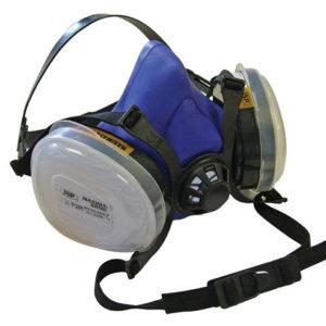Twin Half Mask Respirator + P2 Dust Filter Cartridges