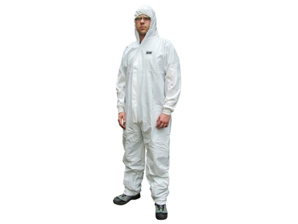 Chemical Splash Resistant Disposable Coverall White Type 5/6 M (36-39in)
