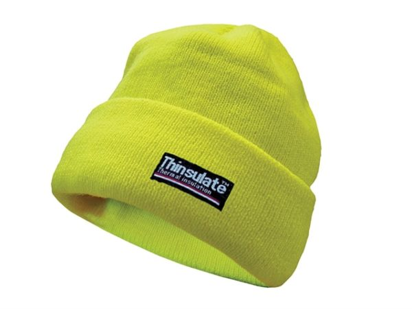 Hi-Vis Yellow Beanie Hat Thinsulate® Lined