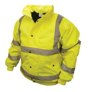Hi-Vis Yellow Bomber Jacket - L (44in)