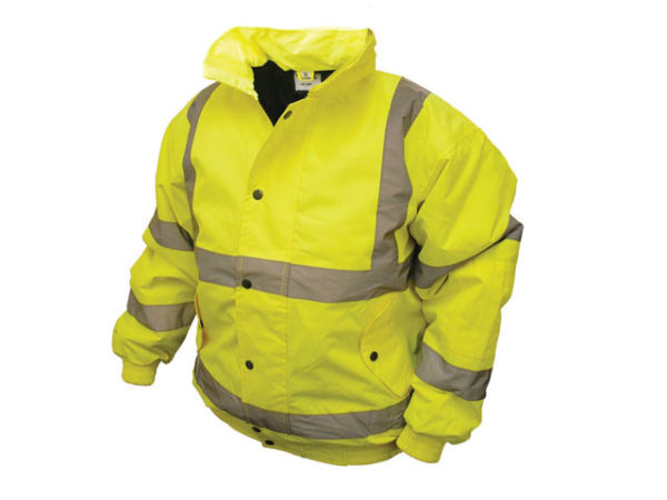Hi-Vis Yellow Bomber Jacket - M (41in)