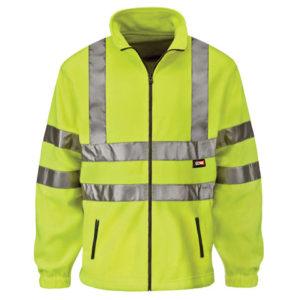 Hi-Vis Yellow Full Zip Fleece - L (42in)