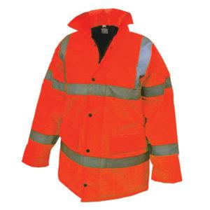 Hi-Vis Orange Motorway Jacket - M (41in)