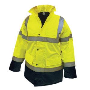 Hi-Vis Yellow/Black Motorway Jacket - M (41in)