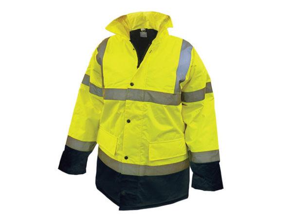 Hi-Vis Yellow/Black Motorway Jacket - XL (48in)