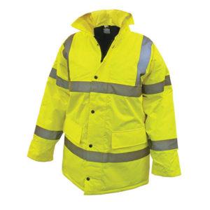 Hi-Vis Yellow Motorway Jacket - XXL (52in)