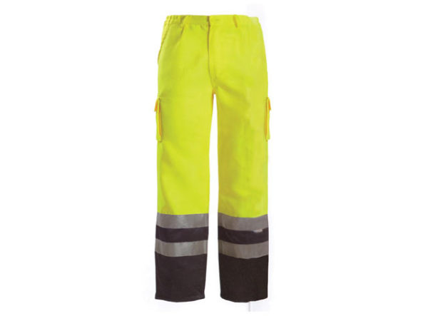 Hi-Vis Yellow/Black Motorway Trousers - M (36in)