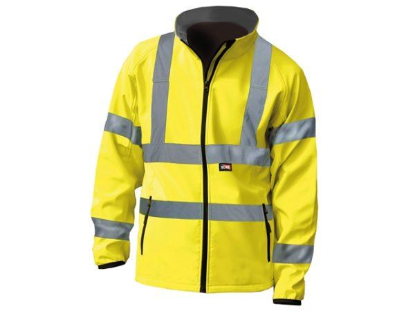 Hi-Vis Yellow Softshell Jacket - M (41in)