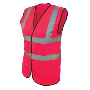 Hi-Vis Pink Waistcoat - L (44in)
