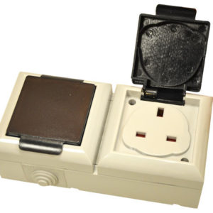 IP54 Outdoor Socket 13A 2-Gang