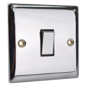 2-Way Light Switch 1-Gang Chrome