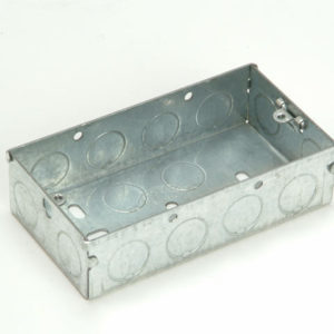 Metal Box 2 Gang 47mm Depth - Loose