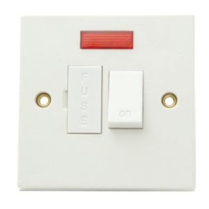 Fused Switched Connection Unit Neon 13A Trade Pack