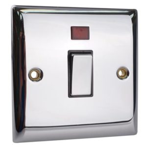 DP Neon Switch 20A Chrome