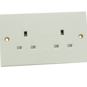 Unswitched Socket 2 Gang 13A