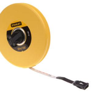 Closed Case Fibreglass Long Tape 30m/100ft (Width 13mm)