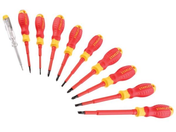 FatMax® VDE Insulated Phillips Pozidriv & Slotted Screwdriver Set 10 Piece