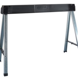 Folding Metal Leg Sawhorses (Twin Pack)