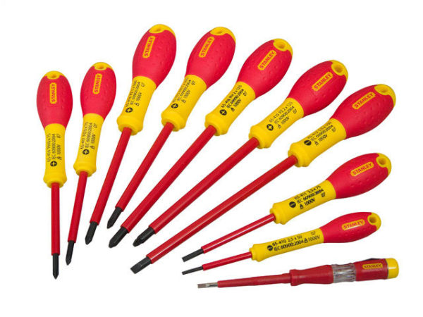 FatMax® VDE Insulated Pozidriv/Parallel/Flared Screwdriver Set of 10