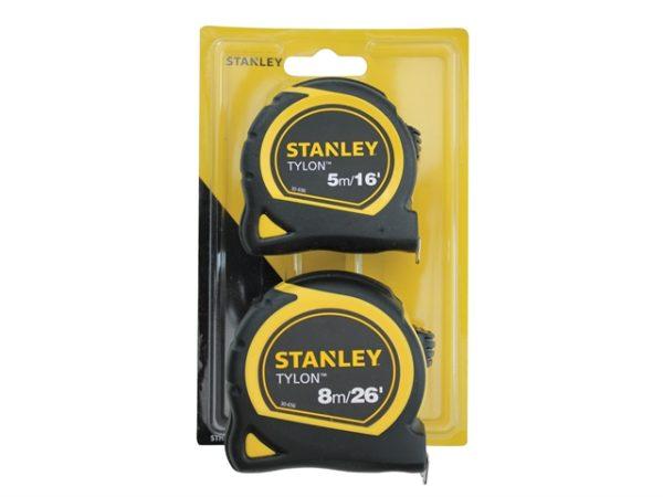 Tylon™ Pocket Tapes 5m/16ft + 8m/26ft (Twin Pack)