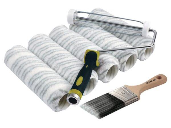 Emulsion Roller & 2in Stubby Max Finish Brush Set