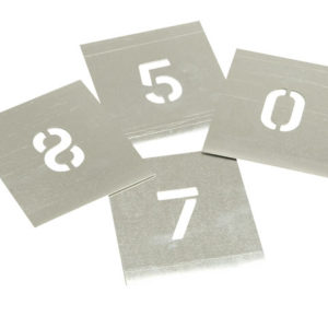 Set of Zinc Stencils - Figures 4in