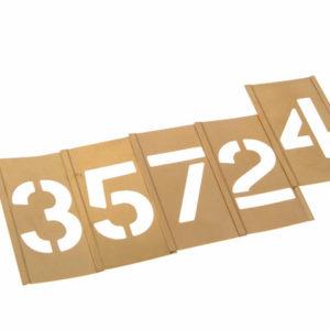 Set of Brass Interlocking Stencils - Figures 2in