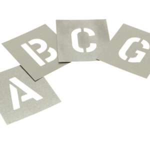 Set of Zinc Stencils - Letters 1in Walleted