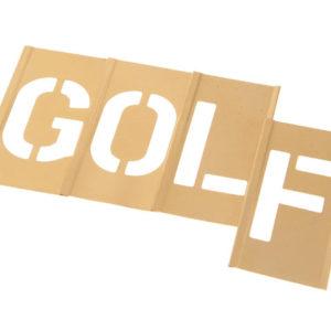Set of Brass Interlocking Stencils - Letters 2in