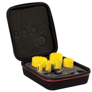 KDC07021 Deep Cut Bi-Metal Plumber's Holesaw Kit 9 Piece