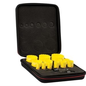 KDC13021 Deep Cut Bi-Metal Universal Holesaw Kit 15 Piece