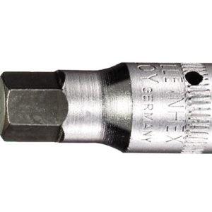 In-Hex Socket 1/4in Drive Short 4mm